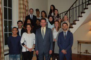 groepsfoto ambassadeurs en ambassadeur VS